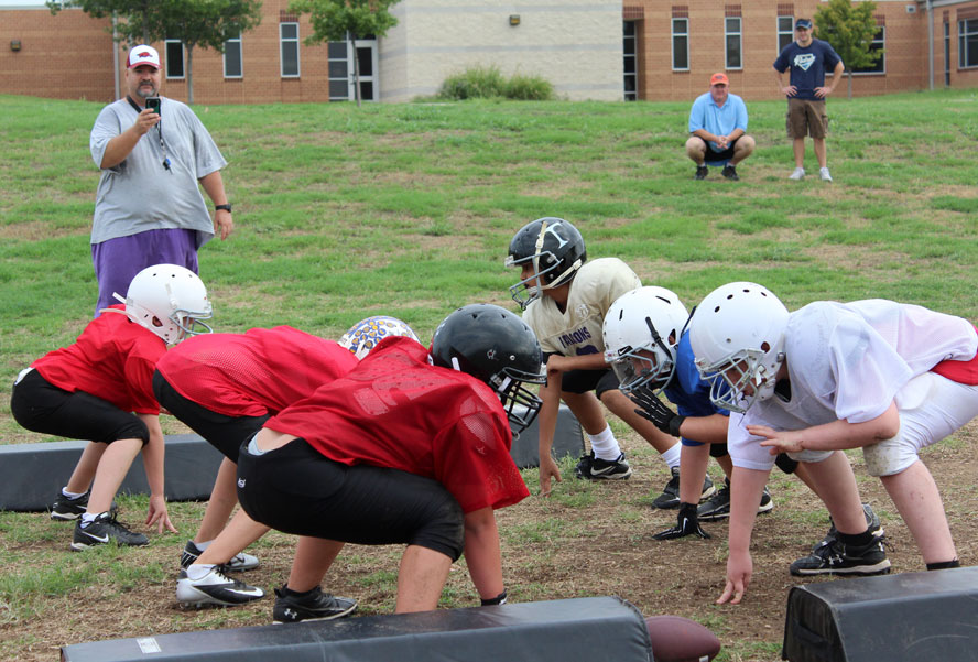 youth football coaching basics half line drill