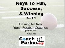 new youth football coach keys to fun success and winning cover
