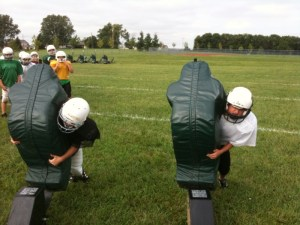 youth football sled training