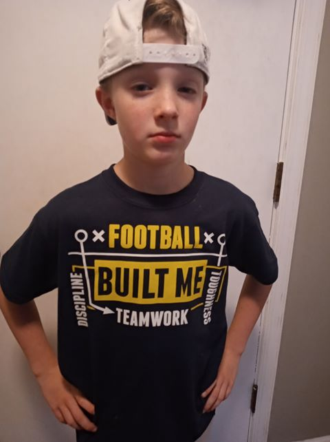 Football Built me Youth Sizes