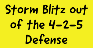 Storm Blitz out of the 4-2-5 Defense