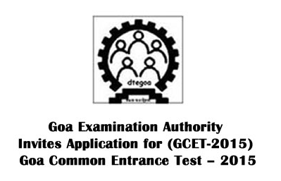GOA GCET 2015 Admission Alert For Professional Courses