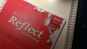 recite and reflect workshop poster for Qur'an post on YouthlyHub.com