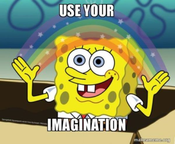 استعمل خيالك - مصدر الصورة: makeameme.org