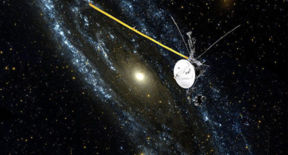 صورة لـ Voyager 1 خارج المجرة