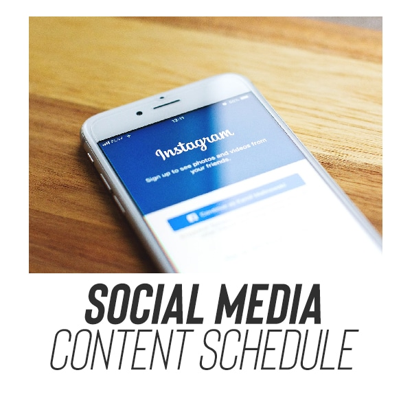 youth ministry social media schedule download