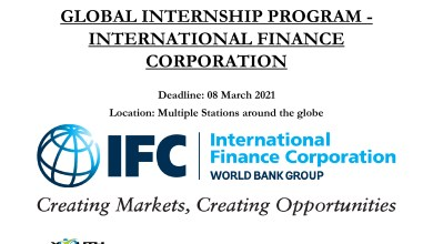 Photo of GLOBAL INTERNSHIP PROGRAM – INTERNATIONAL FINANCE CORPORATION