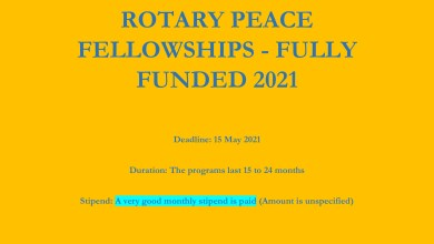 Photo of ROTARY PEACE FELLOWSHIPS – FULLY FUNDED 2021