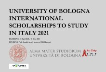 Photo of UNIVERSITY OF BOLOGNA INTERNATIONAL SCHOLARSHIPS TO STUDY IN ITALY 2021