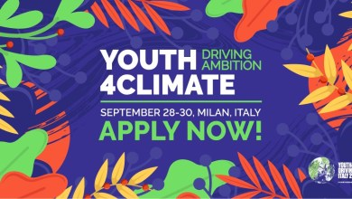 Photo of APPLY FOR A FULLY-FUNDED TICKET TO TRAVEL TO ITALY TO ATTEND THE Youth4Climate EVENT (#Youth4Climate)