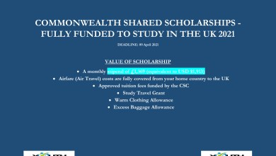 Photo of COMMONWEALTH SHARED SCHOLARSHIPS – FULLY FUNDED TO STUDY IN THE UK 2021