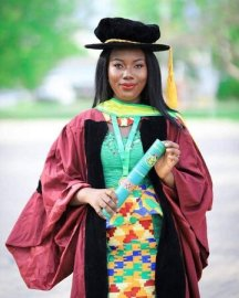 first female to obtain Ph.D in KNUST