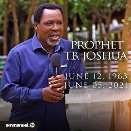 Pastor T.B Joshua death. Pastor T. B Joshua is dead