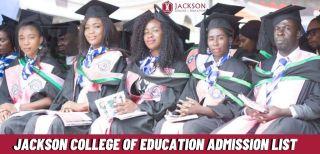 Jackson College Of Education Admission List