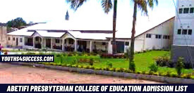 Abetifi Presbyterian College Of Education Admission List