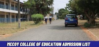 McCoy College Of Education Admission List