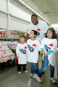 """""""Shop with a Titan"""" with Tennessee Titan Kamerian Wimbley and other Titans players"""