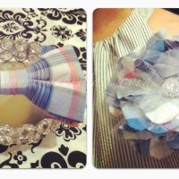Custom Design: Bow Tie + Matching Flower Brooch