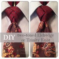 Make a two-toned Eldredge or Trinity Knot : Happy Holidays!