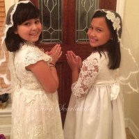 DIY Guest Tina Scarlatella :First Communion Veil & Dress