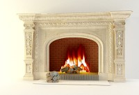 Continental carved fireplaces, stone carving, stone oven ...