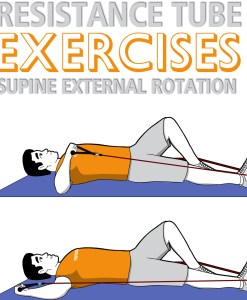 Resistance Tube Supine External Rotation