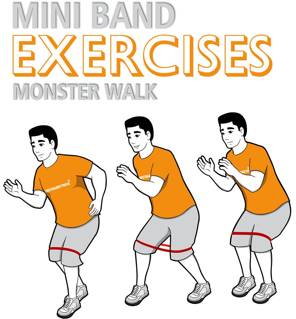 Mini Band Monster Walk