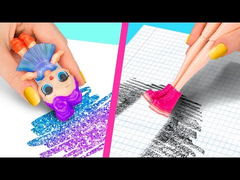 10 Weird Ways To Sneak Barbie Dolls Into Class / Clever Barbie Hacks And LOL Surprise Hacks