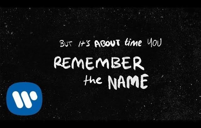 Ed Sheeran – Remember The Name (feat. Eminem & 50 Cent) [Official Lyric Video]