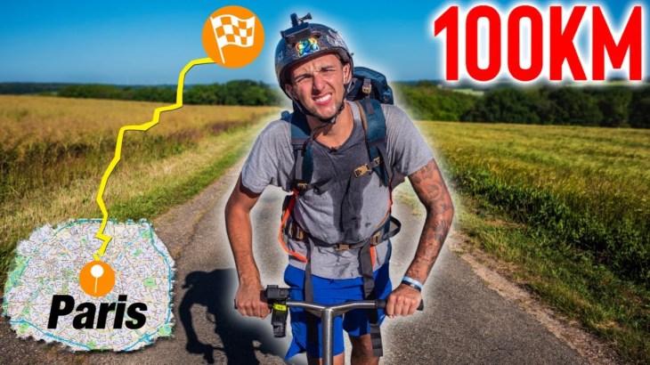 1 JOURNÉE POUR FAIRE 100km EN TROTTINETTE !!