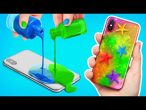 TOTALLY COOL PHONE CRAFTS    Cool DIYS And Crafting Hacks For Your GADGET