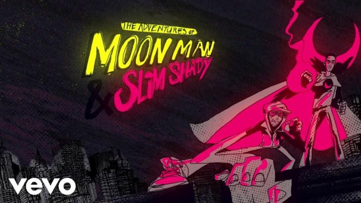 Kid Cudi, Eminem – The Adventures Of Moon Man & Slim Shady (Lyric Video)