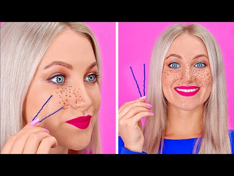 COOL BEAUTY HACKS TO LOOK AWESOME || Funny Girly Tips by 123 GO!