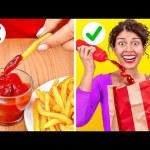 SMART FAST FOOD HACKS || Cool Food Hacks We Found On Tik Tok by 123 GO!