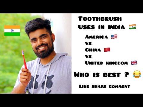 Toothbrush Life Hacks 😂 ~ American 🇺🇸 vs Indian 🇮🇳 vs 🇨🇳 vs 🇬🇧 ~ Dushyant Kukreja #shorts