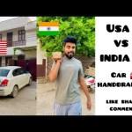 America 🇺🇸 vs India 🇮🇳 ~ Car parking 🚘 ~ Use of Handbrakes Life hack ~ Dushyant Kukreja #shorts