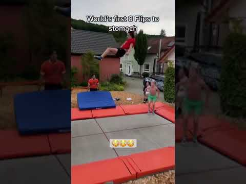 8 flips in the air