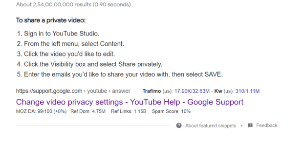 How To Share A Private Youtube Video?