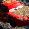 Looking for Disney Cars in the Mud. Learn Colors with McQueen and Friends Toys falls into the Water!
