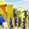 Put in Minion Box!! Blue and Yellow Power Rangers Toy ミニオンのケースに戦隊ヒーローがすぽすぽ