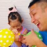 [フロリダさえさな]Learn colors with Bad Baby balloons, Сrying Baby Songs Finger Family Nursery Rhymes for kids colours