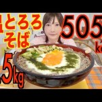[木下ゆうか]【MUKBANG】 1Kg OF Tororo & Eggs! [Hot Grated Yam Moon Viewing Noodles] 5,5Kg 5059kcal [CC Available]