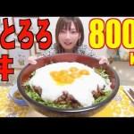 [木下ゆうか]【MUKBANG】 Crispy & Sticky!! Pork And Grated Yam Rice Bowl [8000kcal] [CC Available]