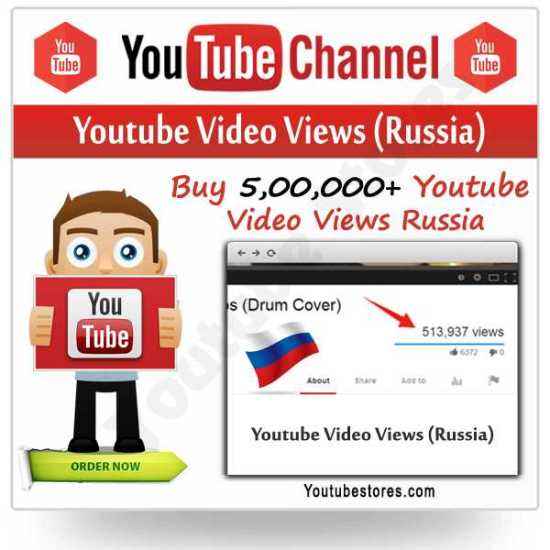 Russia Youtube Video Views