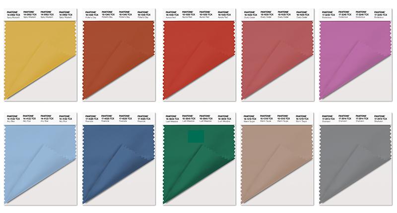 Pantone nos propone los colores otoño/invierno 16-17