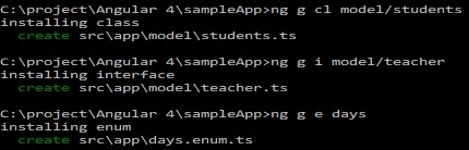 generating class, interface n enum