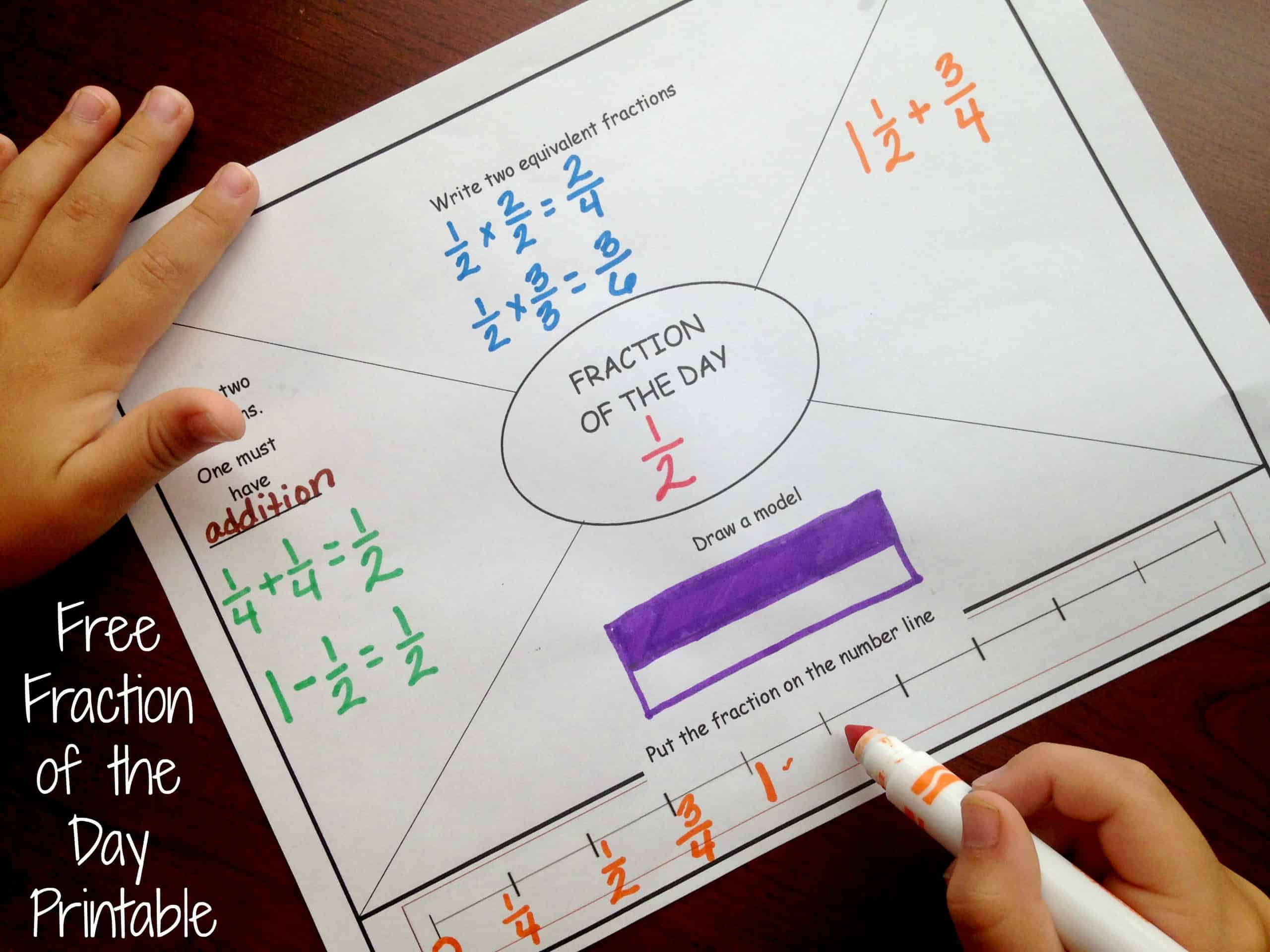 How to build fraction knowledge with a daily fraction printable maxwellsz