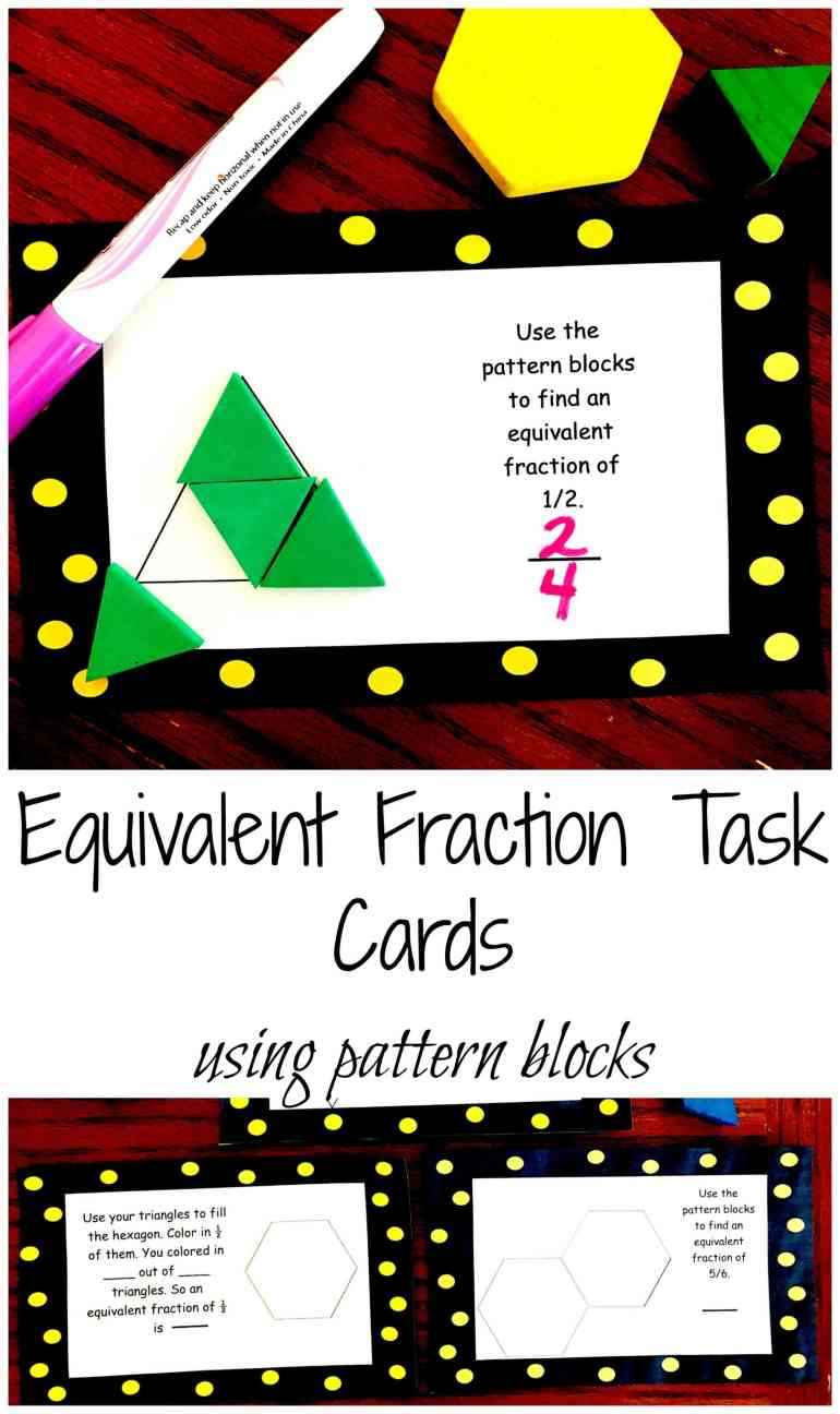 Pattern Block Fractions Amazing Design Inspiration