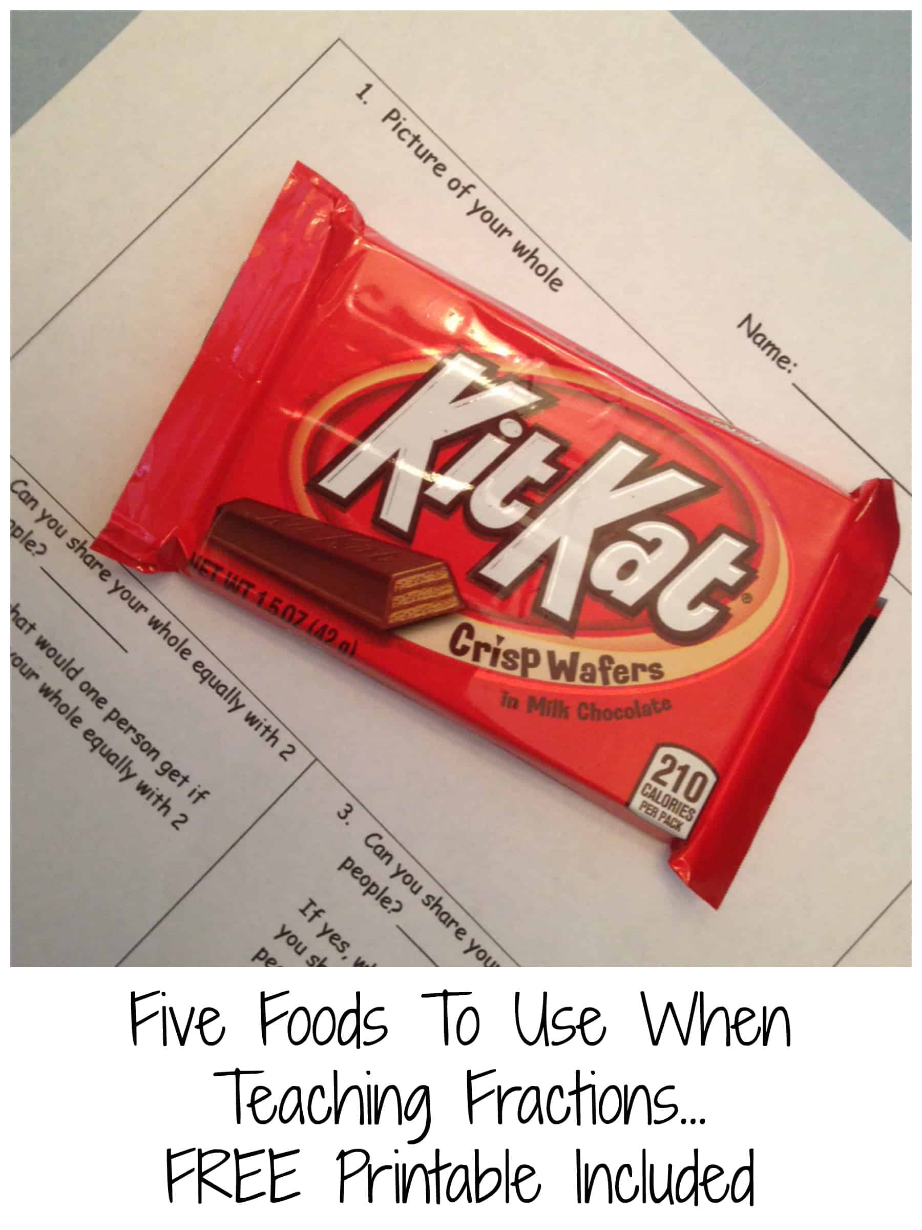 Five Foods To Teach Fractions