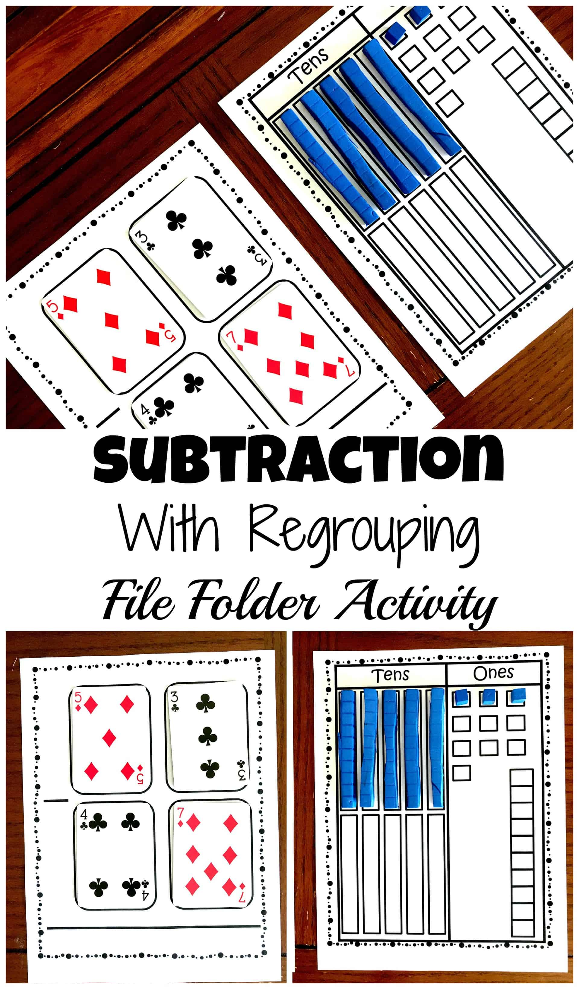 small resolution of Grab a Free Subtraction With Base Ten Blocks File Folder Activity